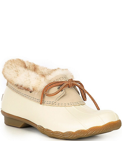 Sperry Saltwater 1-Eye Cozy Faux Fur Leather All Weather Shooties