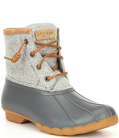 Sperry Saltwater Emboss Wool Duck Winter Rain Boots