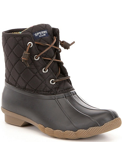 Sperry Saltwater Quilted Waterproof Matte Lace Up Duck Winter Boots