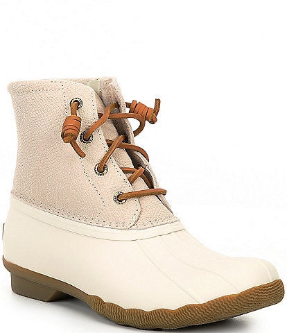 Sperry Saltwater Serpent Leather Winter Rain Booties