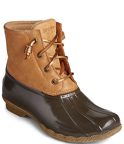 Sperry Saltwater Starlight Leather Winter Rain Booties