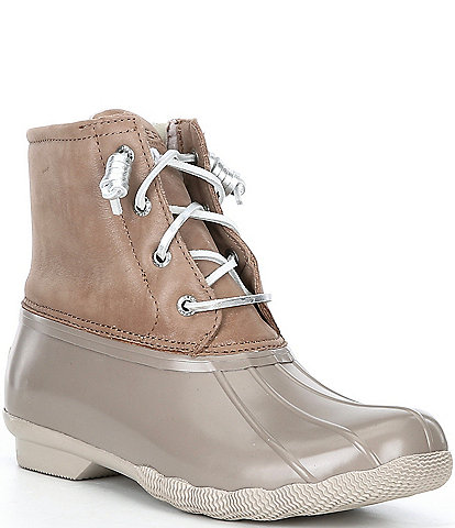 Sperry Saltwater Starlight Leather Rain Booties