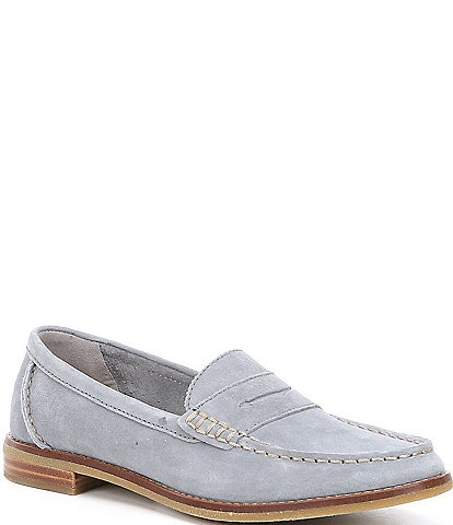 Sperry Seaport Suede Moc Toe Penny Loafers