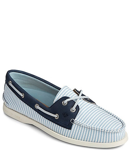 Sperry Women's Authentic Original 2-Eye Seersucker Stripe Boat Shoes