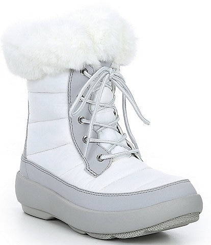 Sperry Women's Bearing Plushwave Faux Fur Lace-Up Winter Boots