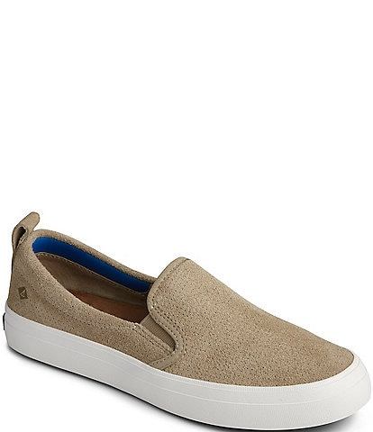 Sperry Women's Crest Twin Gore Plushwave Leather Slip On Sneakers