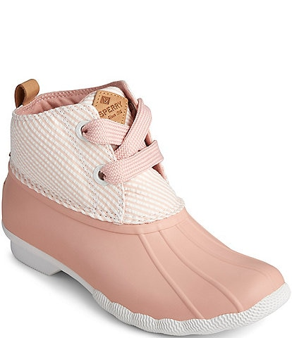 Sperry Women's Saltwater 2-Eye Seersucker Rain Booties