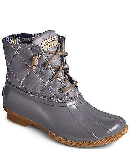 Sperry Women's Saltwater Nylon Quilted Duck Winter Rain Boots