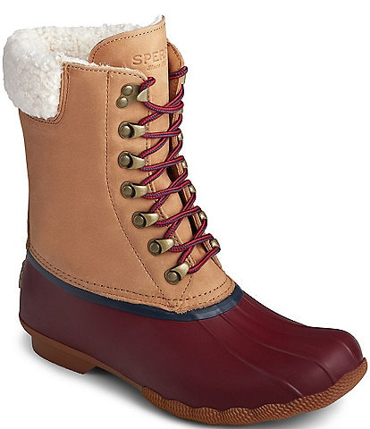 Sperry Women's Saltwater Tall Leather Cozy Winter Duck Boots