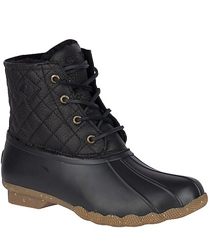 Sperry Women's Saltwater Winter Lux Quilted Leather Winter Duck Boots