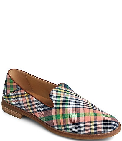 Sperry Women's Seaport Levy Kick Back Plaid Loafers