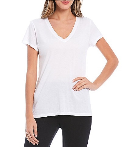 Splendid Kate Knit V-Neck Short Sleeve Tee