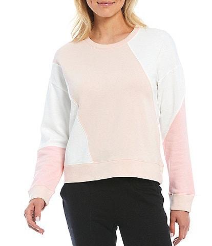 Splendid Knit Morning Star Long Sleeve Jewel Neck Pullover