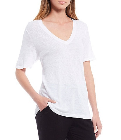 Splendid Knit Slub V-Neck Tee