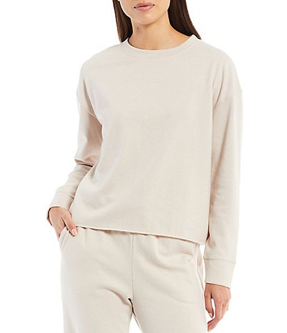 Splendid Long Sleeve Crew Neck Eco Knit Coordinating Pullover