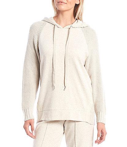 Splendid Long Sleeve Shea Coordinating Sweater Mix Hoodie