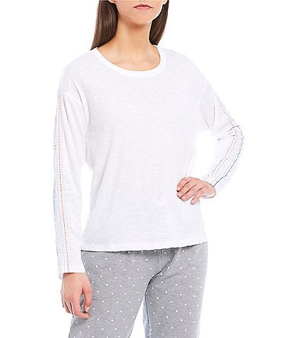 Splendid Stitched Knit Long-Sleeve Sleep Top