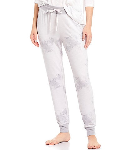 Splendid Tie-Dye Print Slub French Terry Jogger Sleep Pants