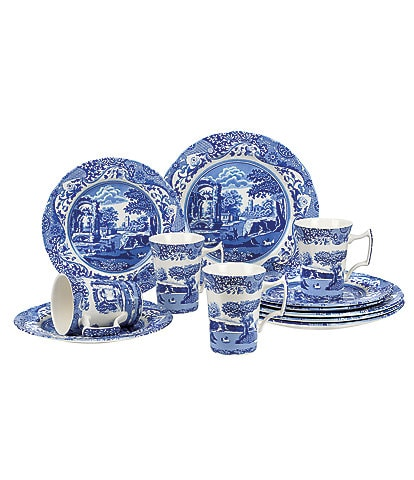Spode Blue Italian 12-Piece Dinnerware Set