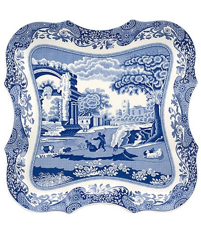 Spode Blue Italian 14#double; Devonia Tray