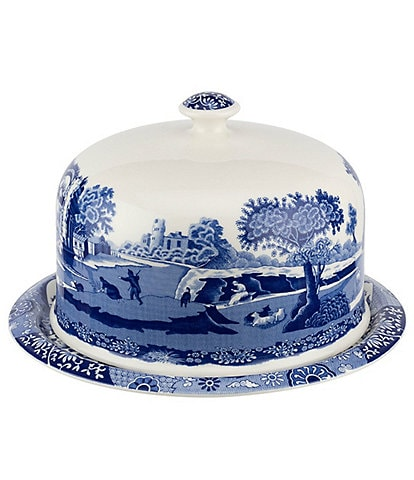 Spode Blue Italian 2-Piece Serving Platter with Dome