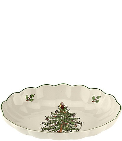 Spode Christmas Tree 2019 Fluted Oval Server