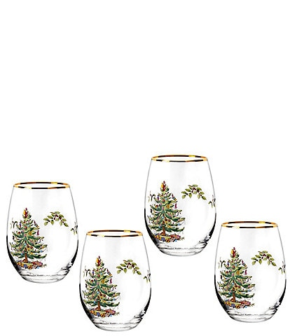Spode Christmas Tree 2019 Stemless Wine Glass