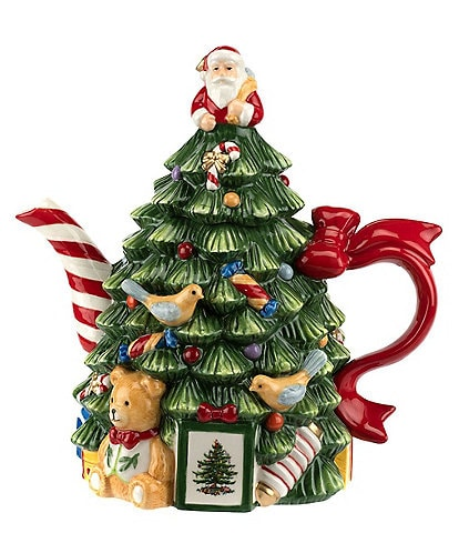 Spode Christmas Tree 250th Anniversary Figural Teapot