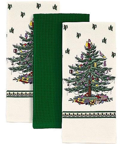 Spode Christmas Tree 3-Piece Kitchen Towel Set