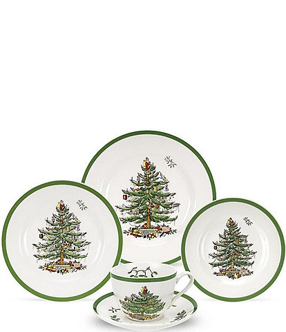 Spode Christmas Tree 5-Piece Place Setting