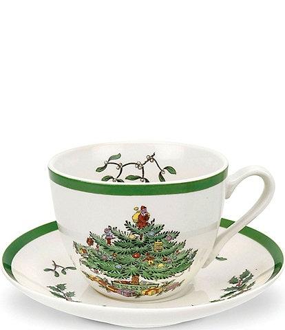 Spode Christmas Tree Cup and Saucer