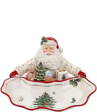 Spode Christmas Tree Gold Figural Collection Santa Dish