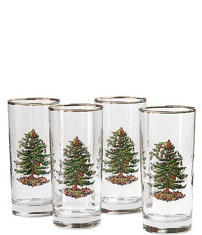 Spode Christmas Tree Highball Glass, Set of 4