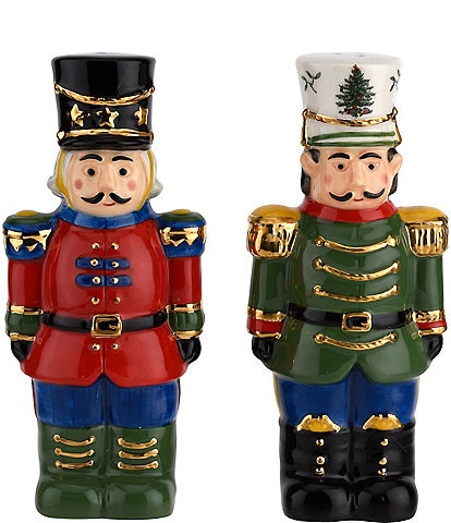 Spode Christmas Tree Nutcracker Salt and Pepper Set