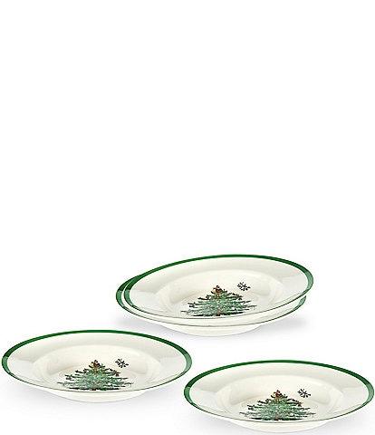 Spode Christmas Tree Soup Plates, Set of 4