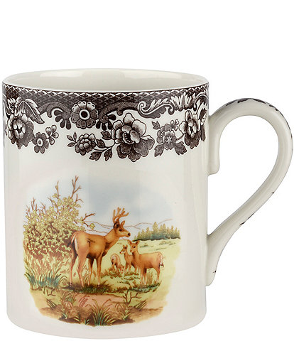 Spode Festive Fall Collection Woodland American Wildlife Mule Deer Mug
