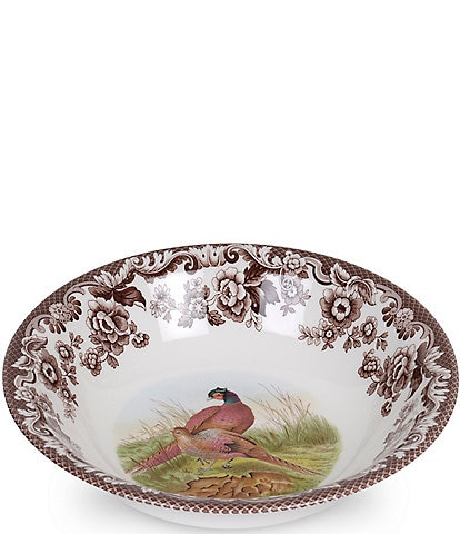 Spode Festive Fall Collection Woodland Ascot Pheasant Cereal Bowl