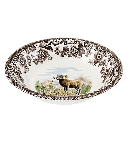 Spode Festive Fall Collection Woodland Bighorn Sheep Ascot Cereal Bowl