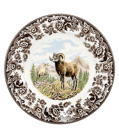 Spode Festive Fall Collection Woodland Bighorn Sheep Salad Plate