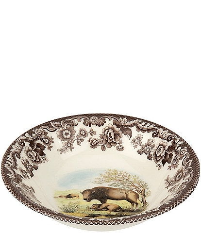 Spode Festive Fall Collection Woodland Bison Cereal Bowl