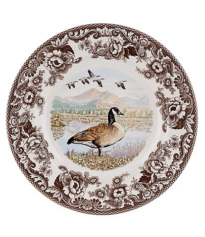 Spode Festive Fall Collection Woodland Canada Goose Dinner Plate