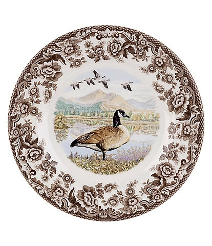Spode Festive Fall Collection Woodland Canada Goose Salad Plate