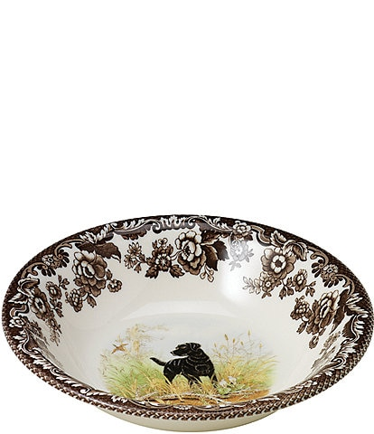Spode Festive Fall Collection Woodland Hunting Dogs Ascot Cereal Bowl