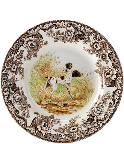 Spode Festive Fall Collection Woodland Hunting Dogs Pointer Salad Plate