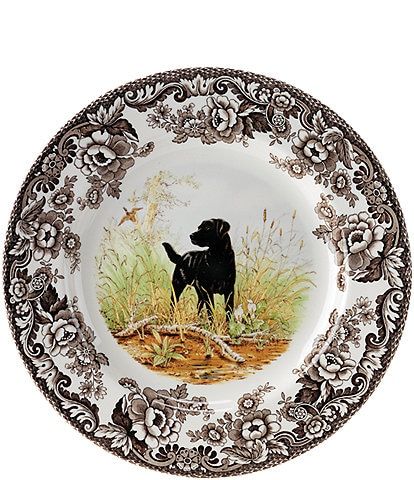Spode Festive Fall Collection Woodland Hunting Dogs Salad Plate