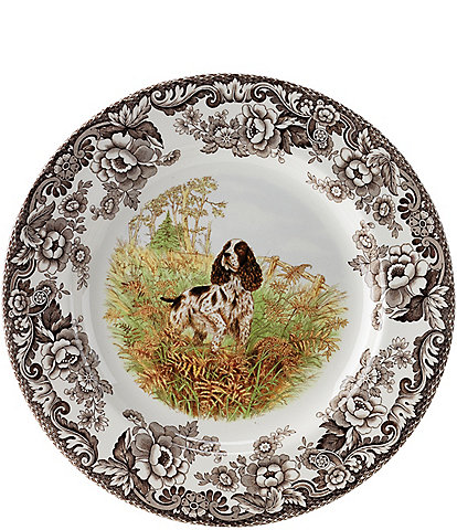 Spode Festive Fall Collection Woodland Hunting Dogs Spaniel Dinner Plate