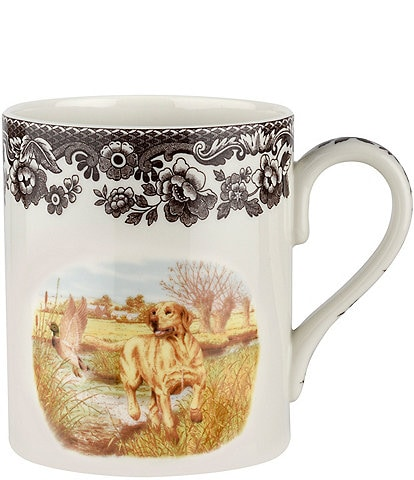 Spode Festive Fall Collection Woodland Hunting Dogs Yellow Labrador Retriever Mug
