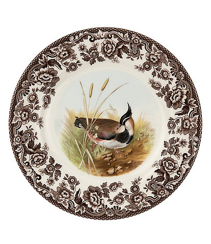 Spode Festive Fall Collection Woodland Lapwing Salad Plate