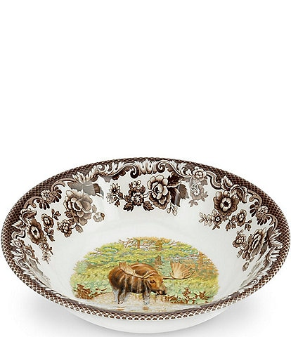 Spode Festive Fall Collection Woodland Majestic Moose Ascot Cereal Bowl