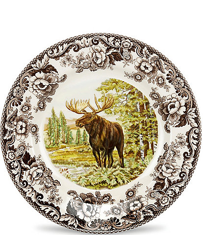 Spode Festive Fall Collection Woodland Majestic Moose Dinner Plate